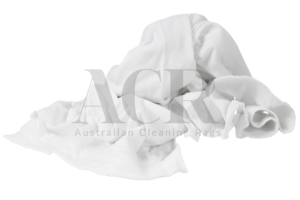 Australian Cleaning Rags White T-shirt Scrunched