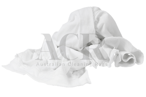Australian Cleaning Rags White T-shirt srunched