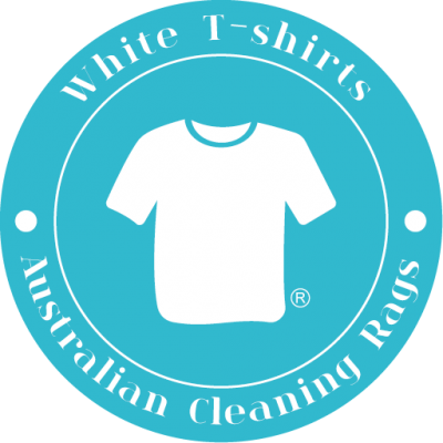 Australian Cleaning Rags White T-Shirts
