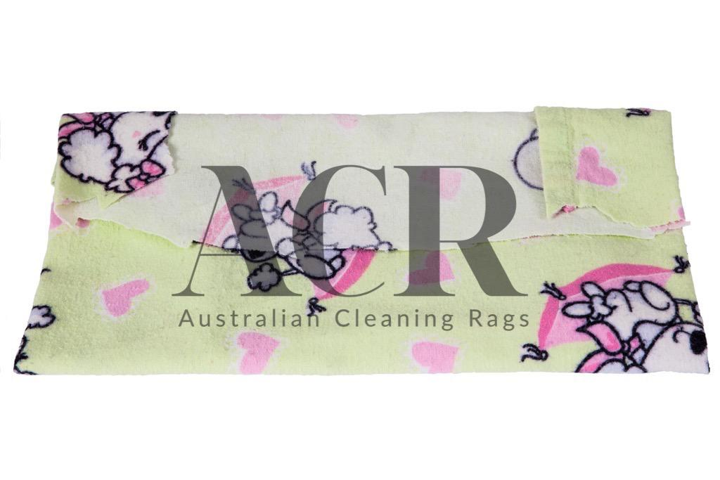 Australian-Cleaning-Rags-flannel-coloured-fold