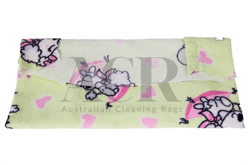 Australian Cleaning Rags flannel coloured folded