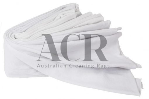 Australian Cleaning Rags White T-Shirt Stack