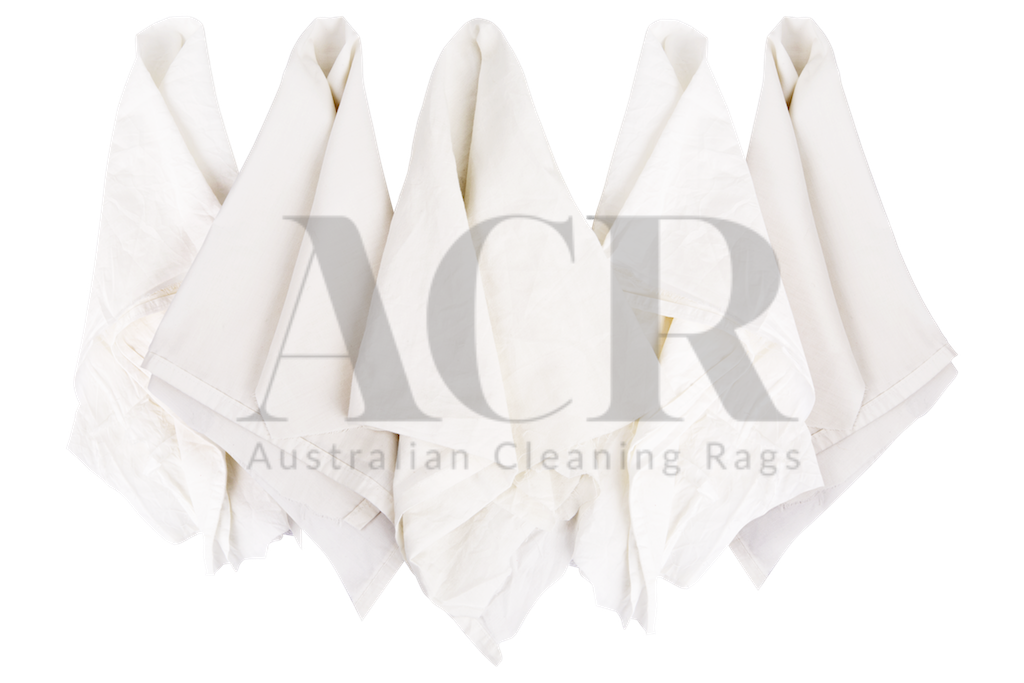 Australian Cleaning Rags White T-shirt multiple